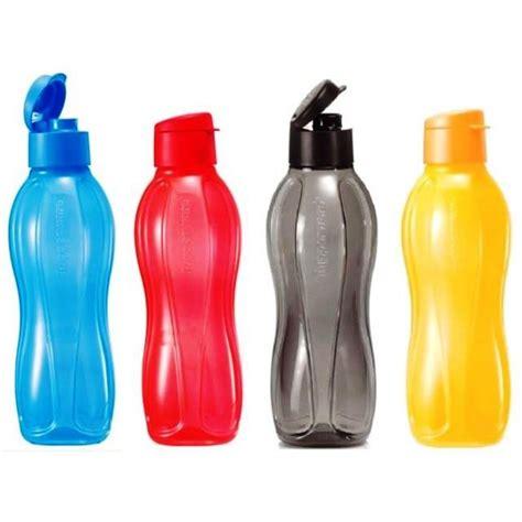 tupperware 2 new eco bottle flip top 1l bottles black