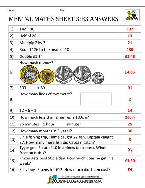 printable worksheets year 3 maths mental maths year 3 worksheets