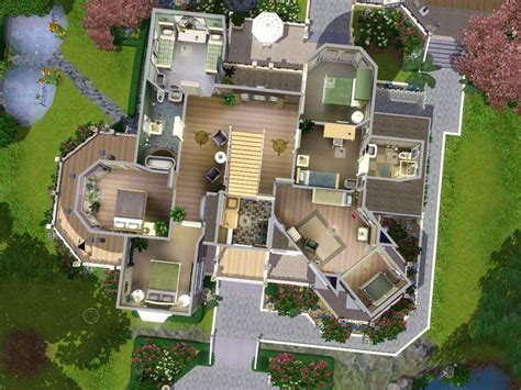 Mod The Sims Wisteria Hill A Grand Victorian Estate Sims House Plans