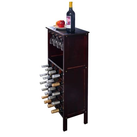 new wood wine cabinet bottle holder storage kitchen home