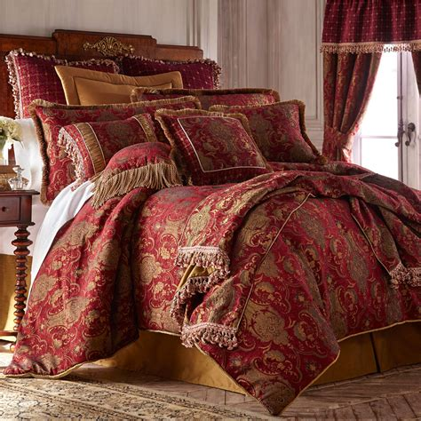 red bed red asian comforter