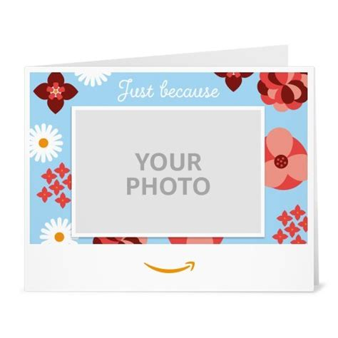 Print Out Amazon Gift Card - upload your photo flowers just because printable amazon co uk gift voucher amazon
