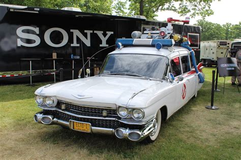 Ecto One Car by Pics Up With The Original 1984 Ghostbusters