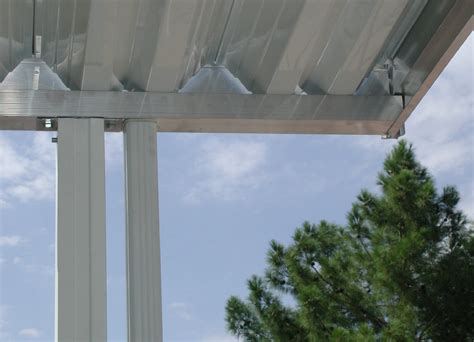 Aluminum Awning Posts by Roof Concrete Slab Out The Back Door Question