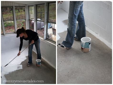 How To Paint Concrete Porch Floor by How To Paint A Concrete Floor Remodelaholic