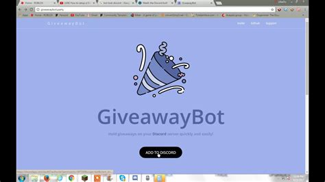 how to get giveaway bot discord youtube - How To Use Giveaway Bot Discord