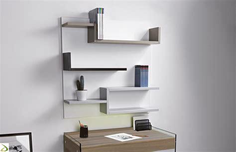 libreria sospesa design libreria sospesa a parete con mensole myshelf arredo