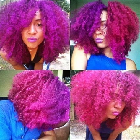 colored afro 25 colored hair styles dyed hair photo