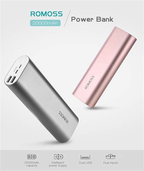 Power Bank Romoss 20000mah dropship romoss ace20 20000mah power bank dual usb output to sell chinabrands