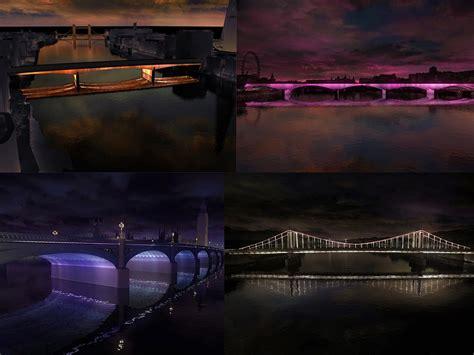 thames clipper return prices 6 creative proposals unveiled for lighting london s bridges