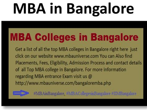 Colleges Of Bangalore For Mba by Mba Colleges In Bangalore