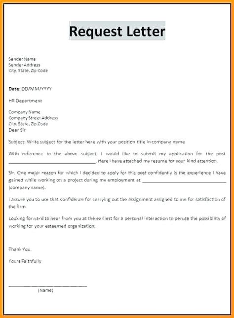 how to write a requisition letter resume template sle