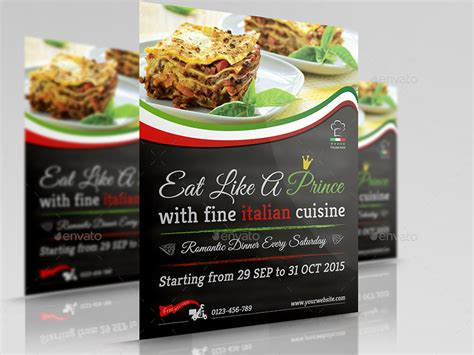 restaurant advertisement template italian restaurant advertising bundle by owpictures