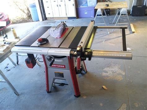craftsman table saw review review new craftsman 10 quot table saw 21833 by steve in