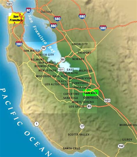 san francisco map silicon valley silicon valley of india is located in california