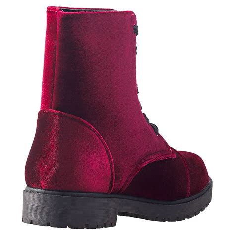 city shoes dm boots velvet womens boots in wine