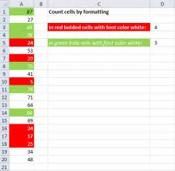 how to count colored cells in excel count cells by cell and font color
