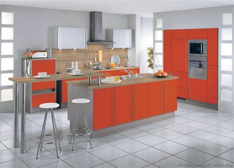 orange kitchen cabinets pictures of modern orange kitchens design gallery