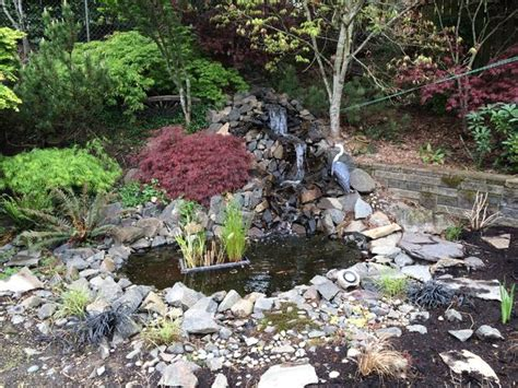 backyard ponds with waterfalls 40 diy backyard ideas on a small budget