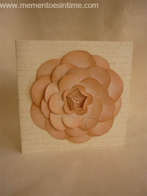 Layered Flower Card Template flower templates mementoes in time