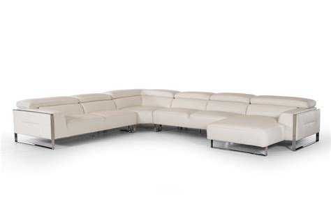 vig sectional sofa vig divani casa tupelo full genuine leather sectional sofa