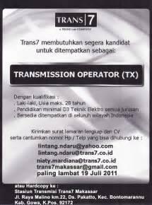 lowongan kerja lowongan kerja trans7 trans7makassar