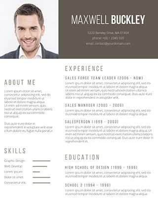110 Free Resume Templates For Word Downloadable Freesumes Resume Template Word With Photo