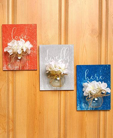Harvest Jar Decor Collection Set Of 2 sets of 3 jar vase wall hangings the lakeside collection