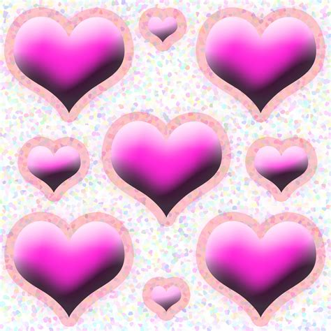love heart pattern pink love heart pattern free stock photo public domain