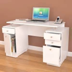 computer desk with locking drawer inval white modern computer writing desk with