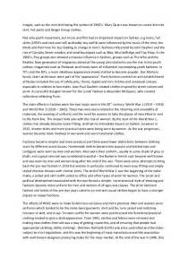 About Clothes Essay by Essay On Influence Of 20th And 21st Fashion