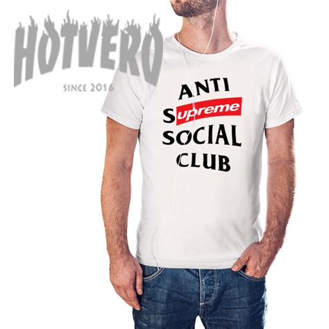 Supreme Cheap Cheap Anti Supreme Social Club T Shirt Hotvero