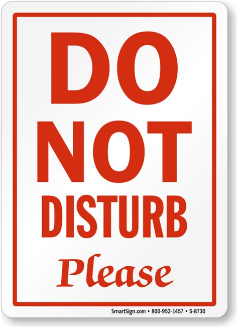 Do Not Disturb Please Sign Office Courtesy Signs Sku S 8730 Do Not Disturb Sign Template