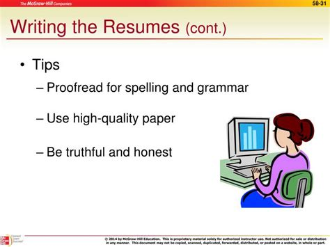 Resume Building Tips Ppt resume writing tips ppt