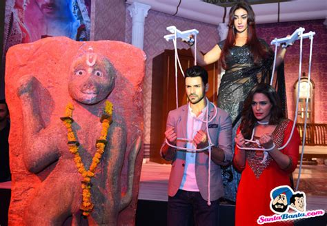 vivek dahiya and mona singh launch of tv serial kawach vivek dahiya mahek chahal