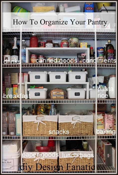 organize or organise diy design fanatic how to organize your pantry