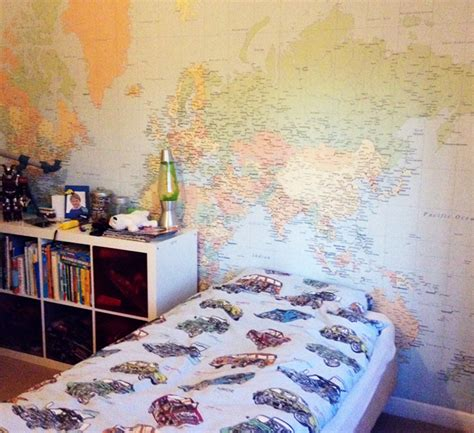 world map wallpaper customer photos wallpapered