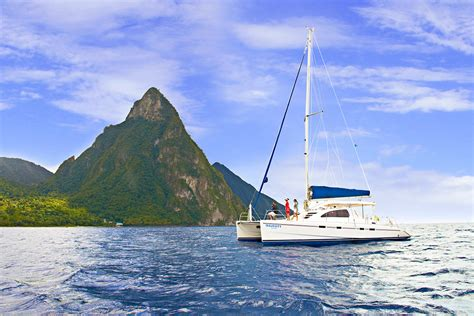 catamaran excursion st lucia the exotic side of st lucia catamaran land sea adventure