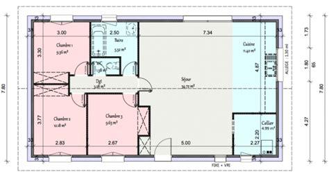 Logiciel Pour Faire Des Plans 3279 by Plan De Maison 90m2 Plain Pied Gratuit Plan De Maison