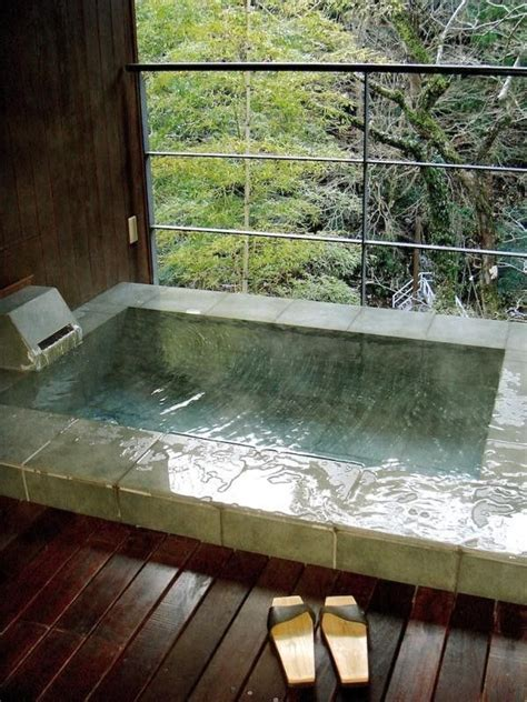 japan bathtub japanese soaking tub with view of forest gardenista ev