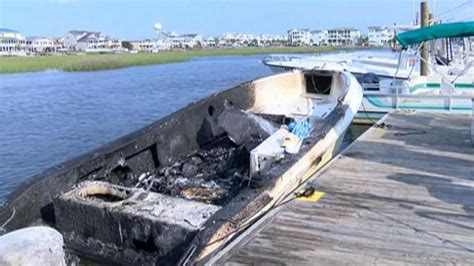 boat explosion ocean isle beach boat explodes after gas was pumped into fishing rod holder
