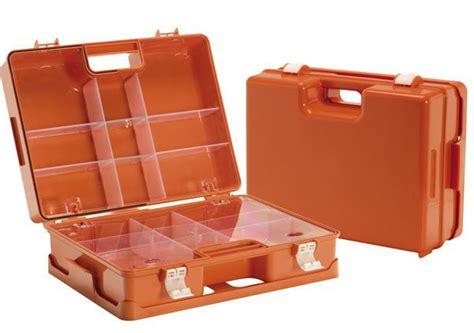cassetta pronto soccorso vuota valigietta vuota arancio di primo soccorso per aziende con