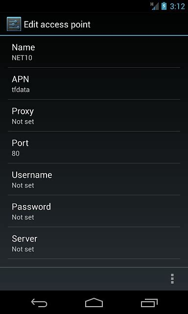 net10 apn settings for android net10 apn settings