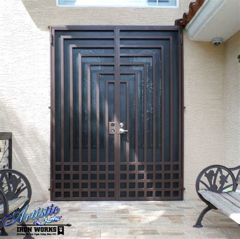 Doors Las Vegas by Wrought Iron Security Doors Modern Front Doors Las
