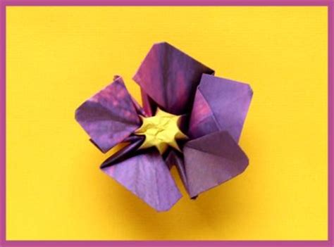 How To Make Paper Violets - joost langeveld origami page