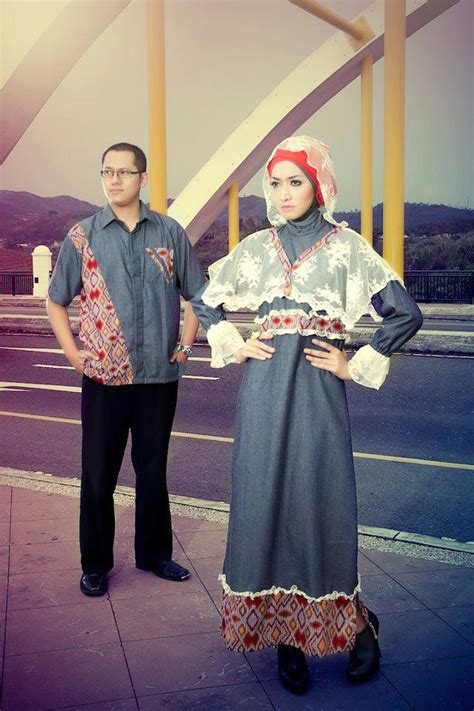 Dress Batik Denim By Z Shop by Gamis Katun Kombinasi Batik Busana Muslim Baju Muslim