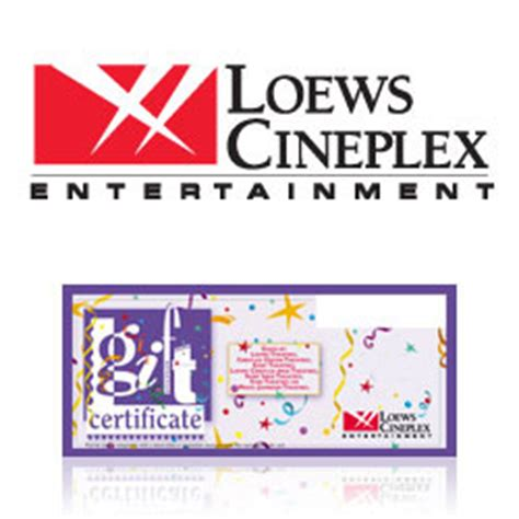 Loews Theater Gift Card - buy loews cineplex entertainment gift cards at giftcertificates com
