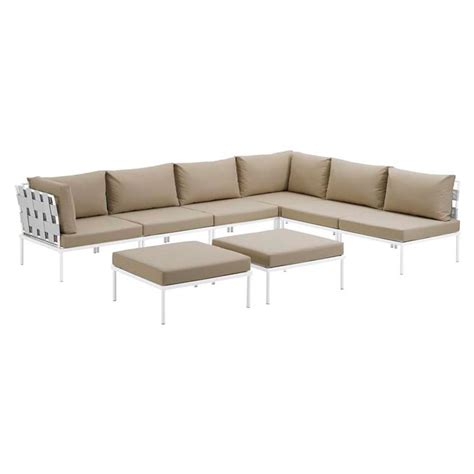 White Outdoor Sectional by Havasu Modern White Beige Outdoor Sectional Eurway