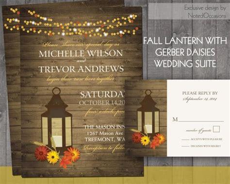 diy gerbera wedding invitations fall wedding invitations rustic lantern country wedding