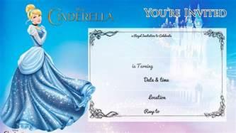 cinderella invitation to the template free printable cinderella birthday invitation bagvania
